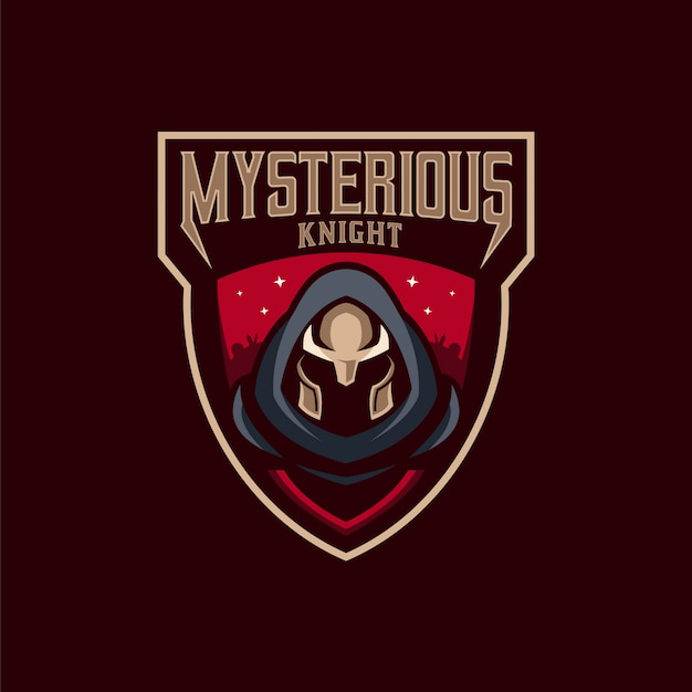 Mysterious knight logo