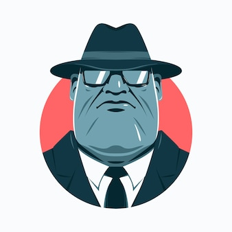 Mysterious mafia man wearing a hat