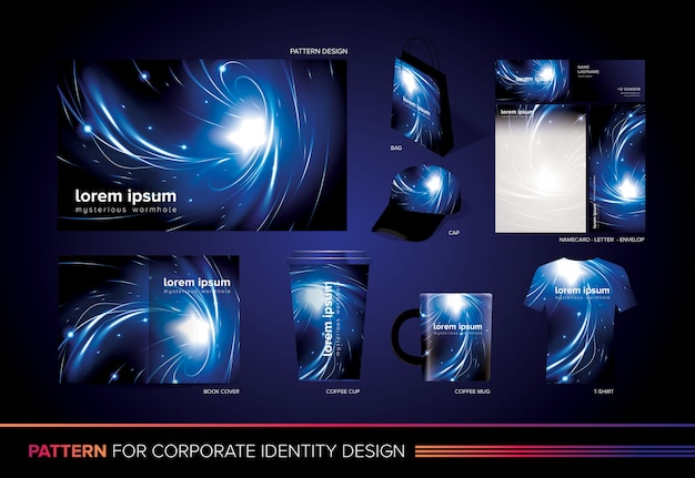 Mysterious wormhole corporate template