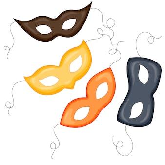 Mystery masquerade masks set