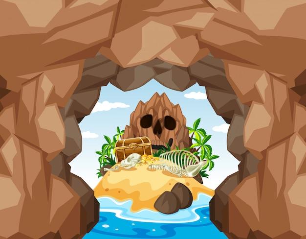 ミステリー海賊の宝島と洞窟