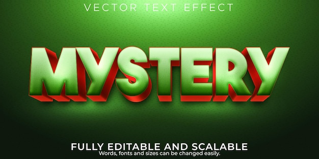Mystery text effect, editable comic and funny text style