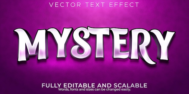 Mystery text effect; editable magic and fairy text style