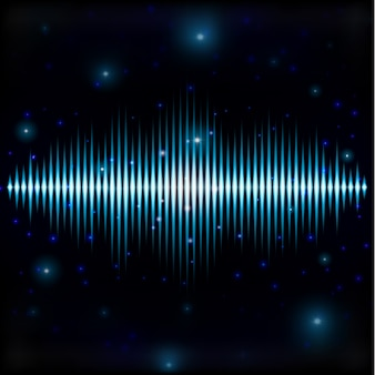 Mystic shiny sound sign in blurred space