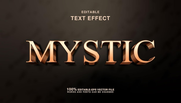 Mystical golden fantasy text effect