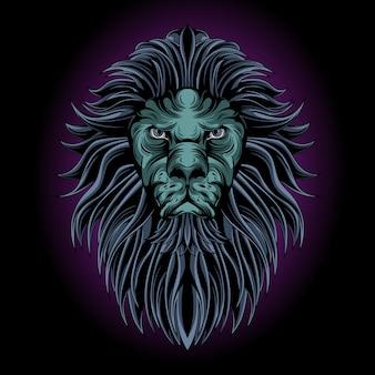 Mystical lion head