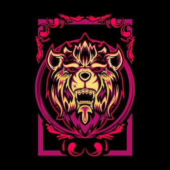 Mystical lion illustration