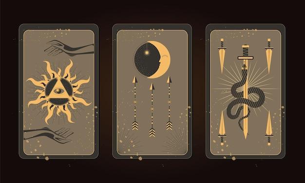 神秘的なタロットカード