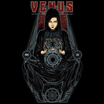 神話の女性の金星