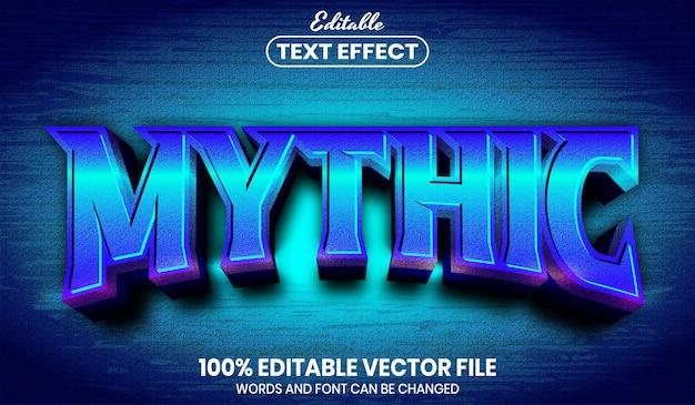 Мифический текст, редактируемый текстовый эффект в стиле шрифта