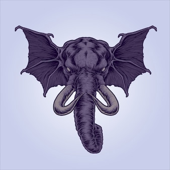 Mythical elephant illustration