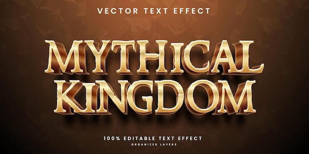 Mythical kingdom editable text effect style