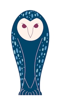 神話上のフクロウ、神秘的なキャラクターの野生のおとぎ話の動物。