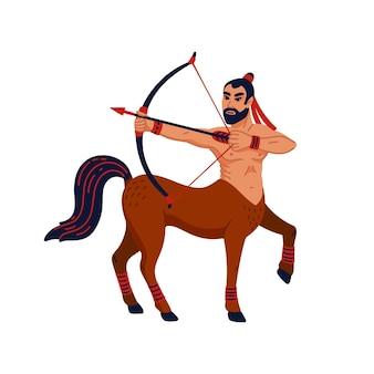 Mythological creature centaur or sagittarius