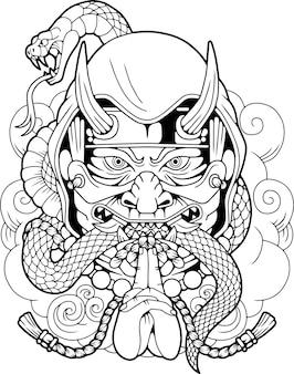 Мифологический японский убийца шиноби