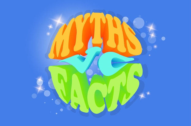 Myths vc facts banner. checking the facts for truth or lies.