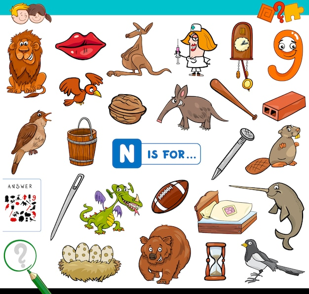 N is for educational game for children