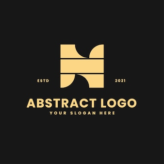 N letter luxurious gold geometric block concept logo vector icon illustration