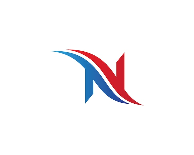 N letter symbol illustration