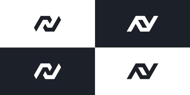 N monogram logo initial letter design