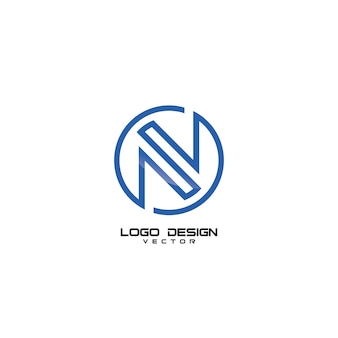 N symbol logo design