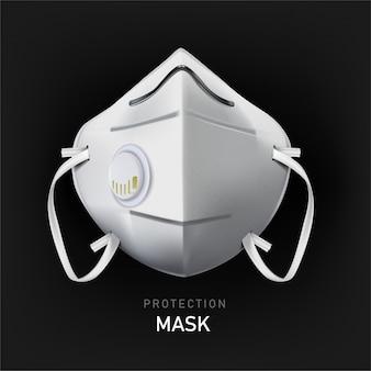 Защитная маска. промышленная безопасность n95 маска, защита респиратора и дыхательная медицинская респираторная маска. больница или загрязнение защищают маскировку лица, иллюстрацию.