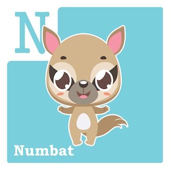 文字nが付いているアルファベットカード