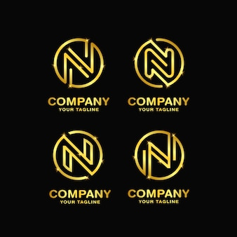 Буква n дизайн логотипа шаблона