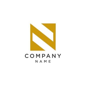 手紙n成熟したロゴのテンプレート