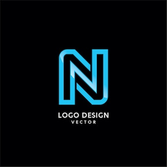 Nシンボルタイポグラフィロゴデザイン