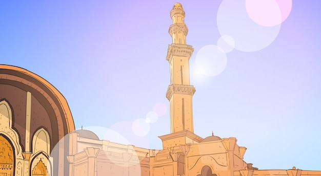 Nabawi mosque building muslim religion ramadan kareem holy month