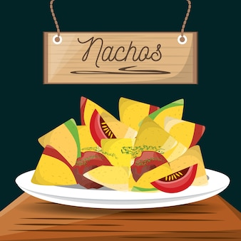 Nachos mexican food menu restaurant