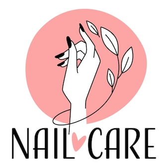 Nail care and treatment logotype for manicure