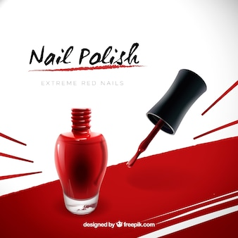Nail polish advertisement