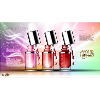Nail polish background design