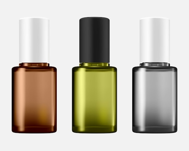 Nail polish bottle for cosmetic container illustration