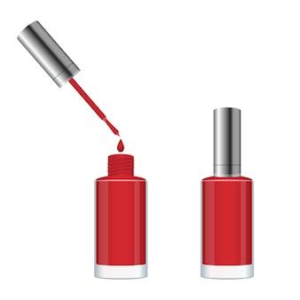 Nail polish bottle design illustration isolated on white background