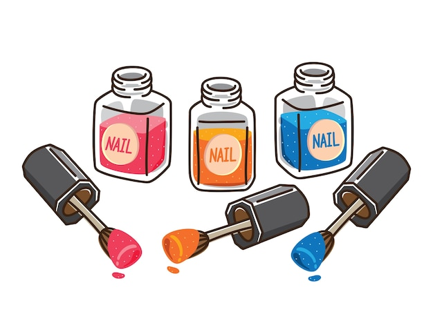 Nail polish illustration