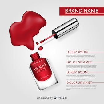 Nail polish product background