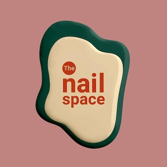 Nail space business logo vector creative color paint style