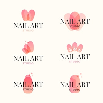 Nails art studio logo collection