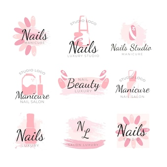 Nails art studio logos template