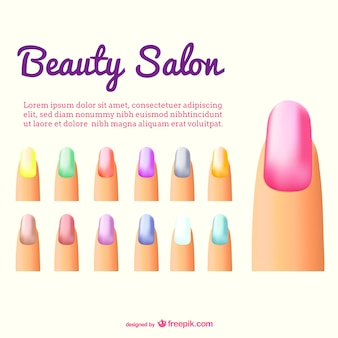 Nails color vector