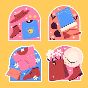Naive apparel and accesories stickers