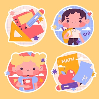 Naive back to school stickers collection