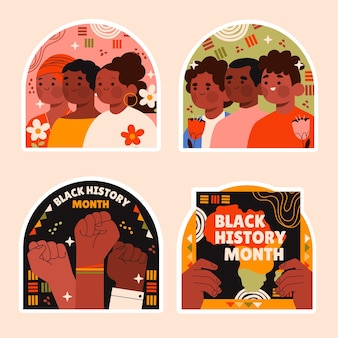 素朴な黒人歴史月間ステッカーコレクション
