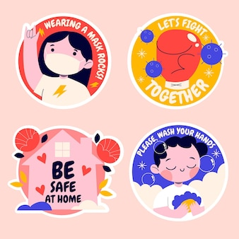 Naive coronavirus sticker collection