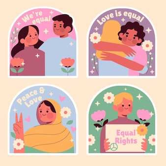 Naive equality stickers collection