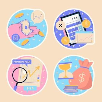 순진한 금융과 투자 스티커