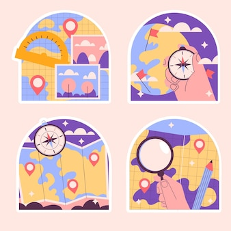 Naive geography stickers